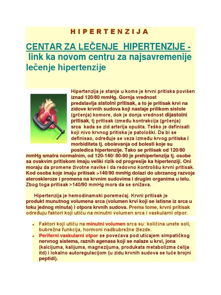 koji se primjenjuju u hipertenzije disanje membrane hipertenzije