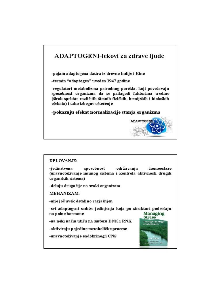 adaptogens i hipertenzija