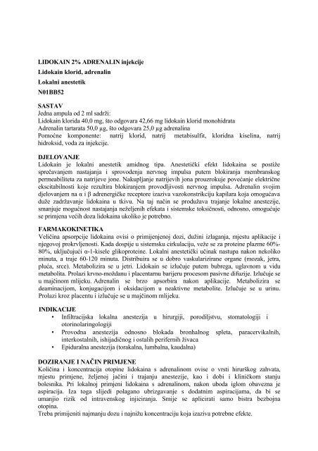 lidokainas ir hipertenzija)