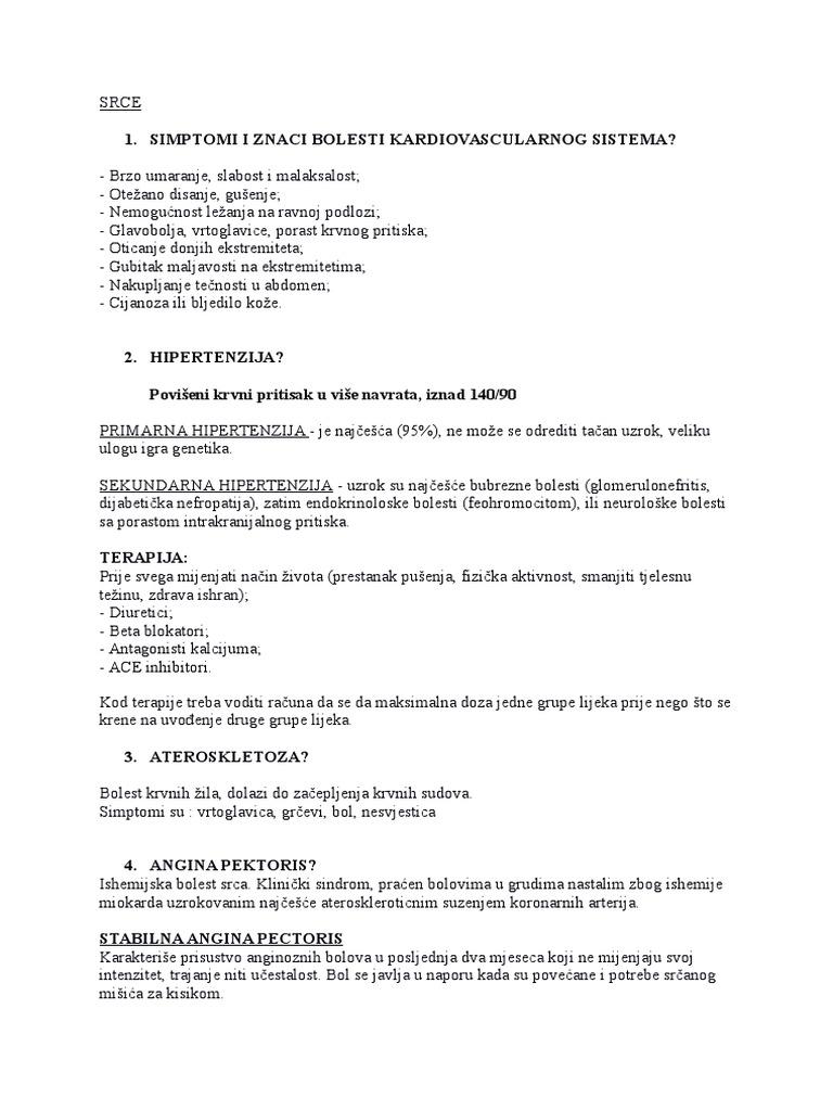 lijekovi za hipertenziju i angine pektoris nakon operacije hipertenzije