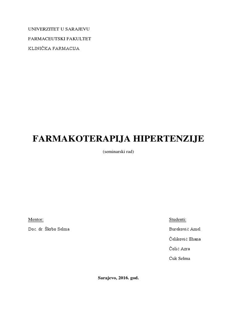 računovodstvo hipertenzija itd u ranim fazama hipertenzije