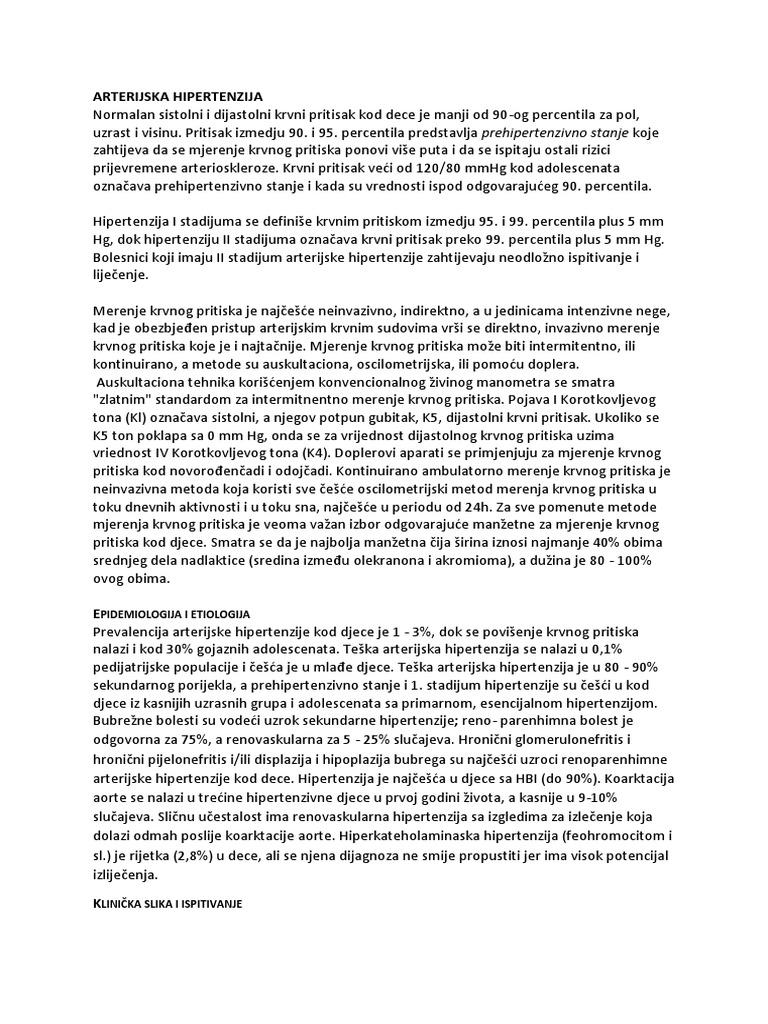 etiologija hipertenzije patogeneze liječenja serum i hipertenzija