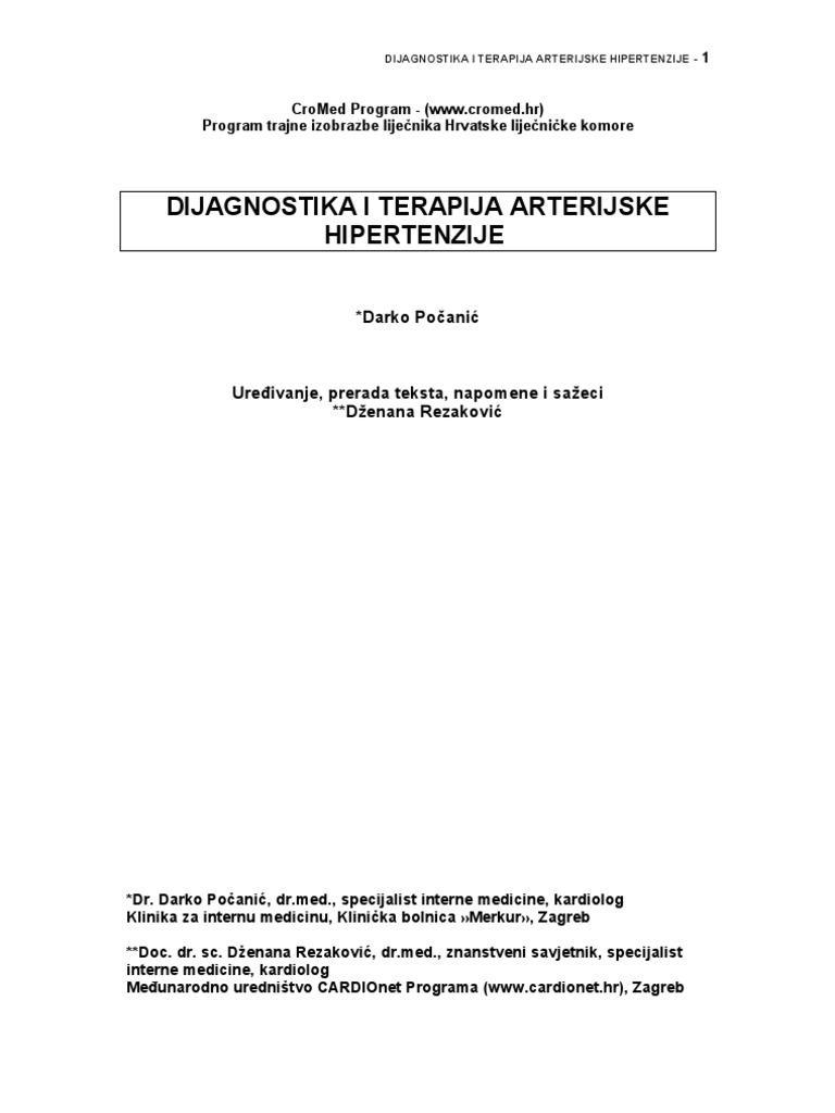 liječenje hipertenzije i edema
