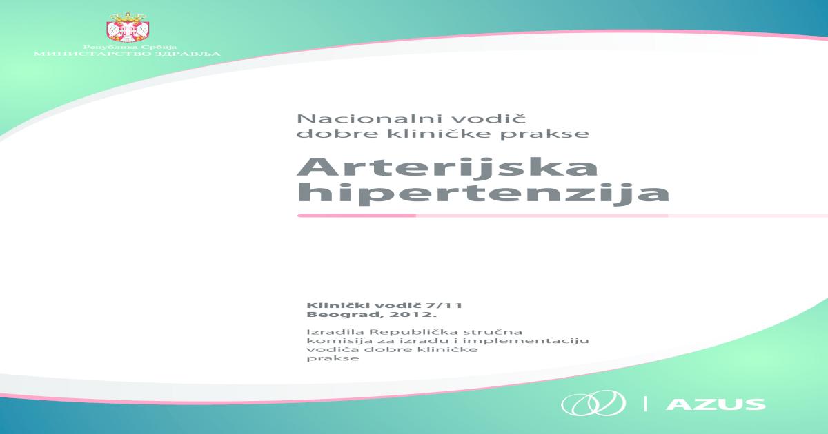 profilaktičko liječenje hipertenzije kao lijekovi za hipertenziju