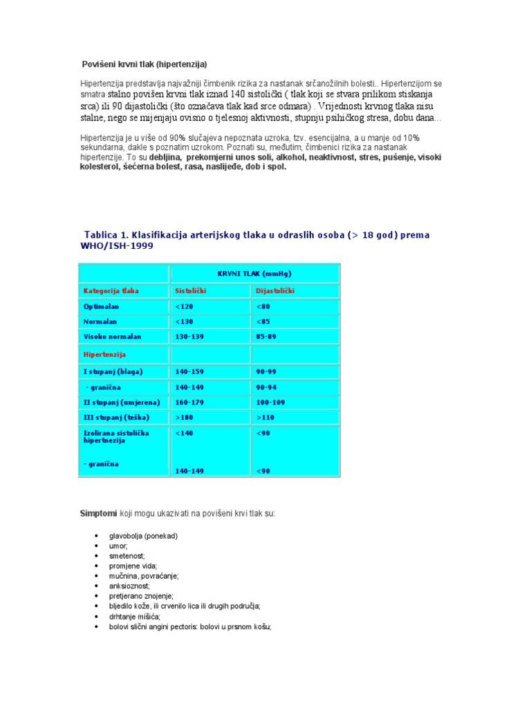 visoki stupanj 3 hipertenzije kompleks liječenje hipertenzije kod dijabetesa melitusa
