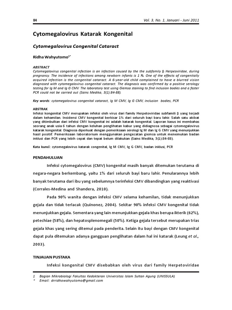 citomegalovirus hipertenzija